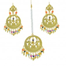 Antique Gold Plated Maang Tikka For Girls And Women
