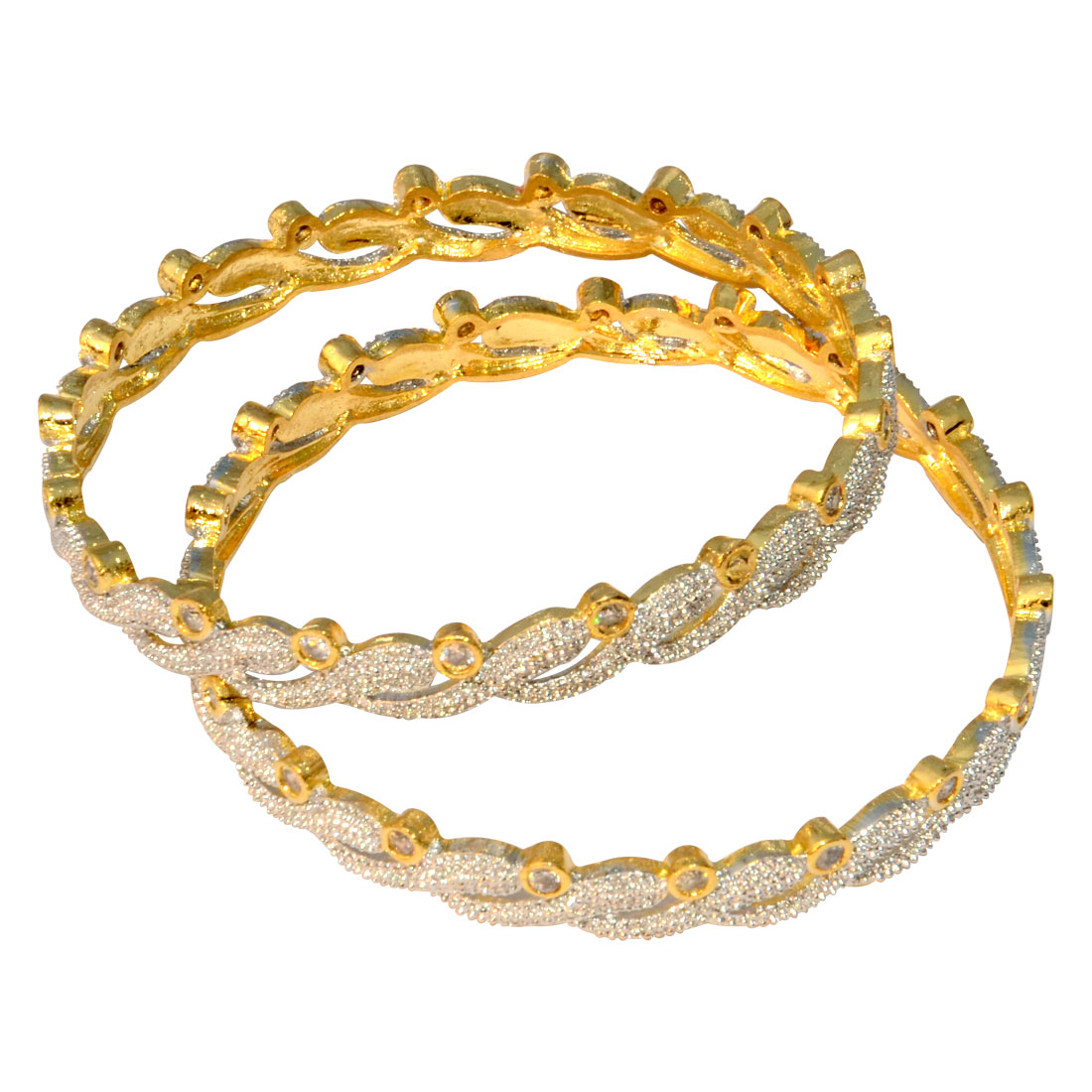 Traditional Gold Studded Bangle Pair